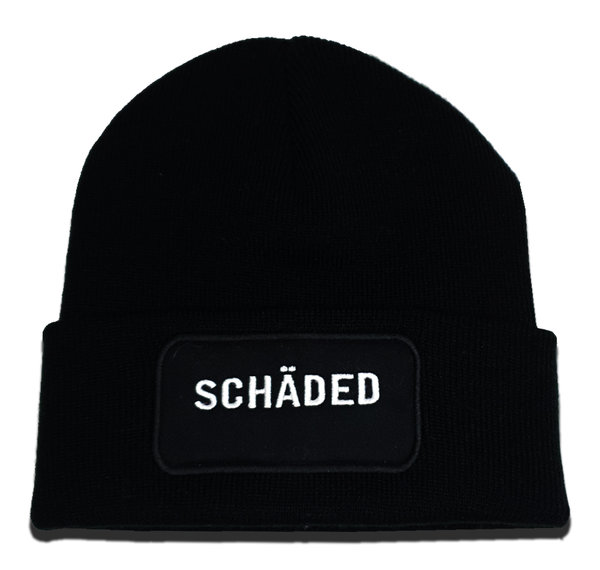 Schaded Staple Beanie - Black