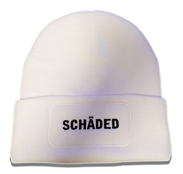 Schaded Staple Beanie - White