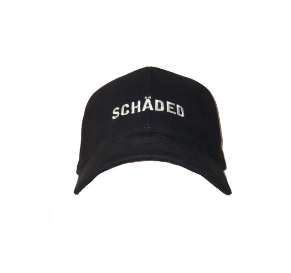 Black Embroided Schaded Cap