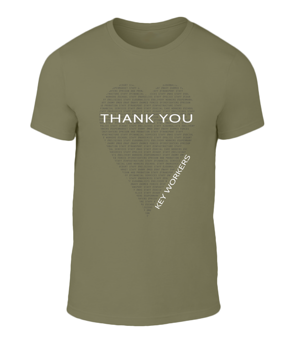 Unisex Key Worker Charity Tee Olive
